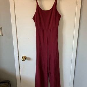 Burgundy jumpsuit
